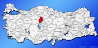 Kırıkkale ilinin Türkiye haritasında gösterimi