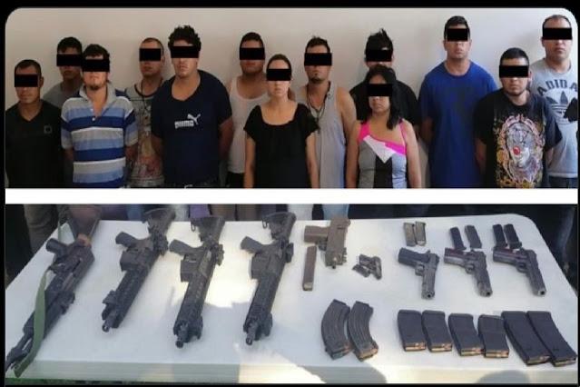 Duro golpe capturan a 2 Sicarias y 11 Sicarios de El CJNG que se enfrentaron contra fuerzas Estatales en Córdoba, Veracruz