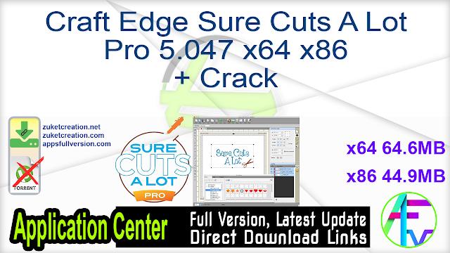 Craft Edge Sure Cuts A Lot Pro 5.047 x64 x86 + Crack