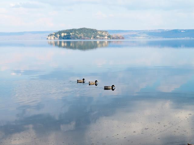 Martana is the smallest island on Lake Bolsena