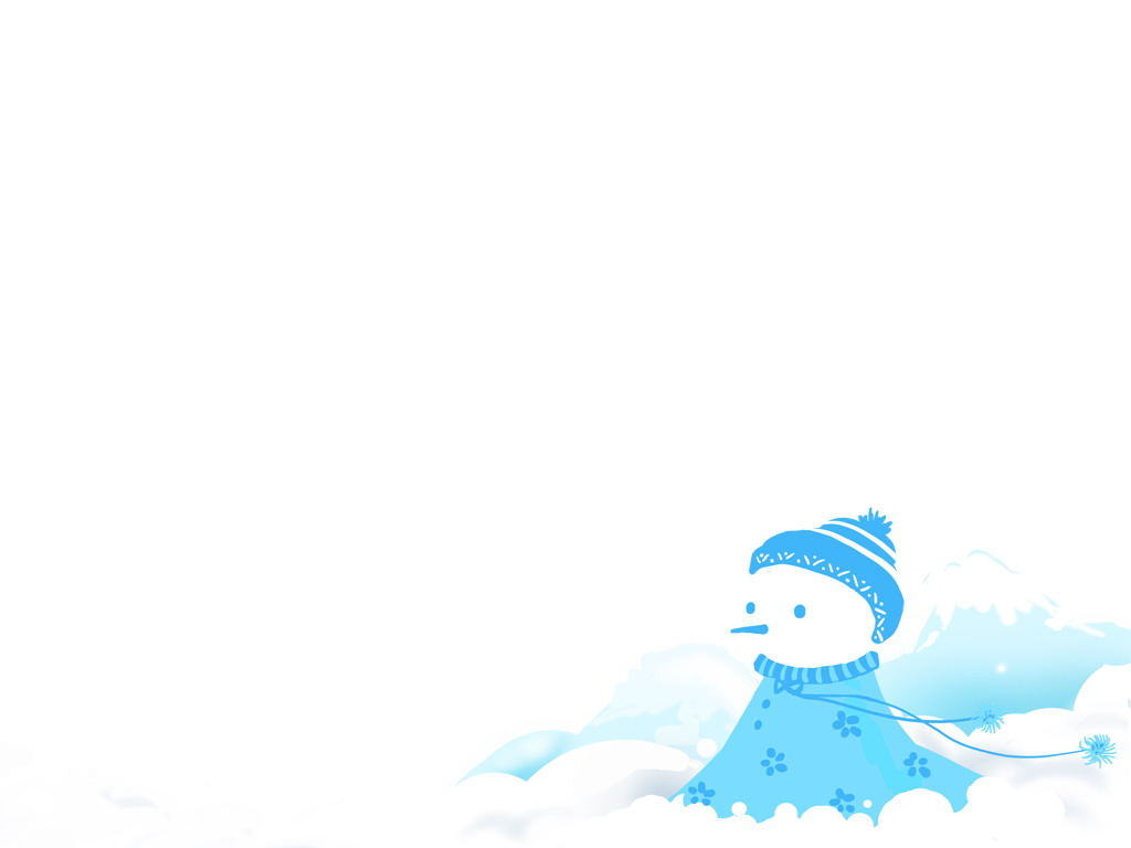 Cute snowman PowerPoint background