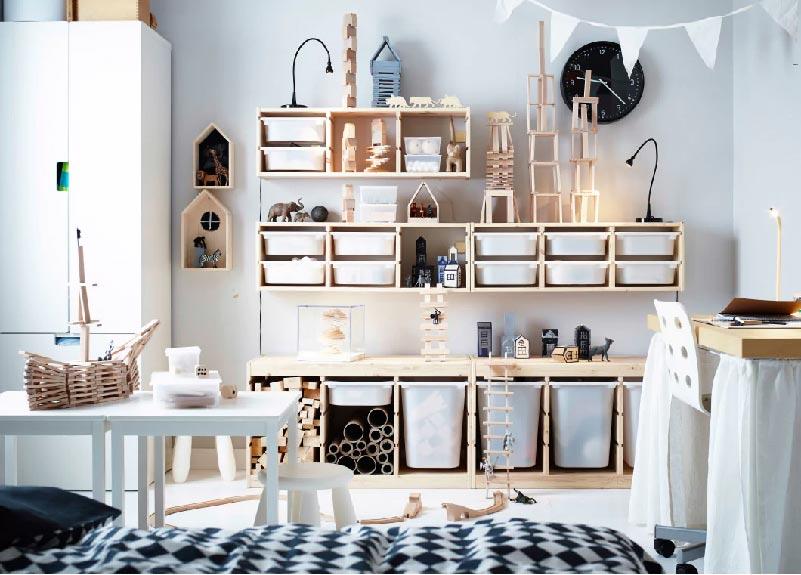 parete attrezzata cameretta IKEA