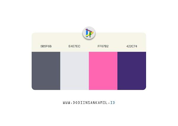 Gradasi Warna untuk Desain - Gradasi Warna Pink, Ungu, dan Abu-abu