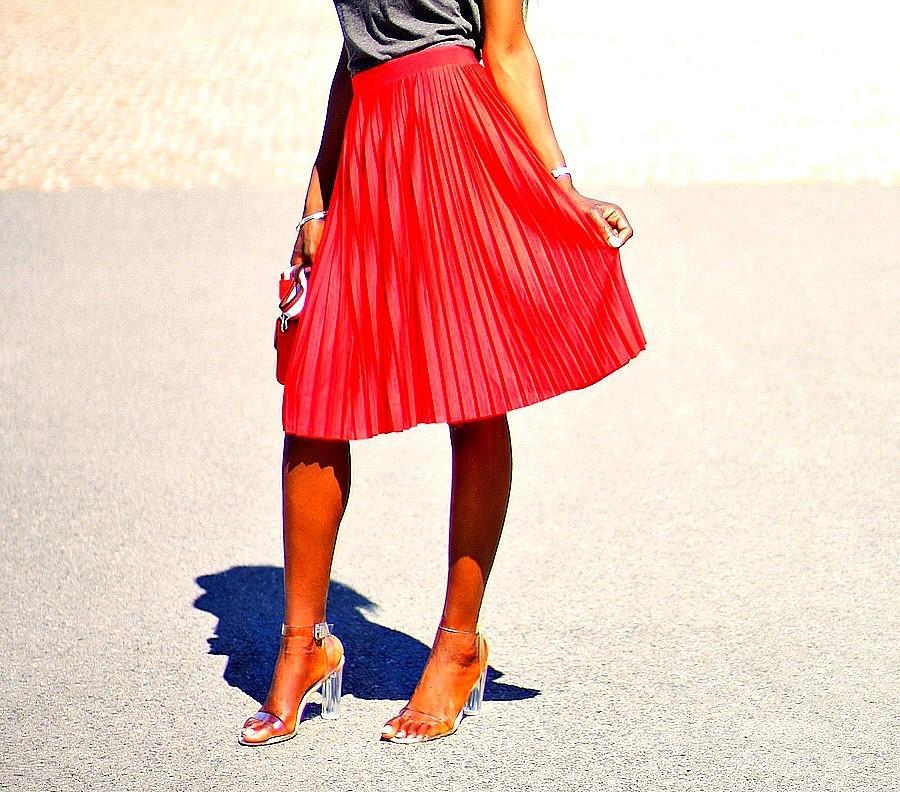 jupe plissée blog mode