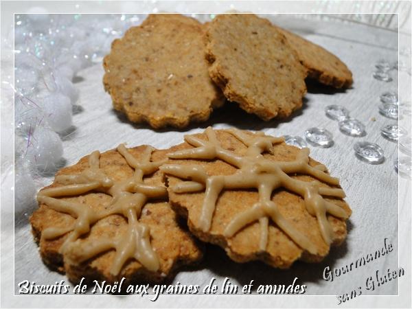 Biscuits de Noël aux graines de lin, sans oeuf, sans gluten, sans lactose