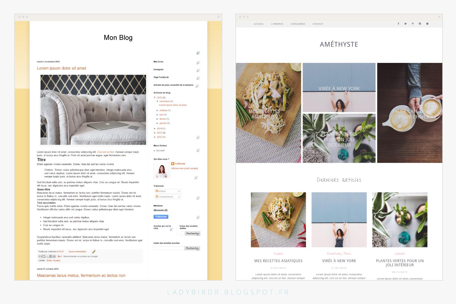 Astuces pour un joli logo - Exemple designs de blogs