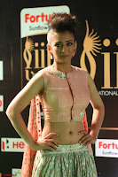 Akshara Haasan in Peachy Crop Top Choli Skirt at IIFA Utsavam Awards 78.JPG