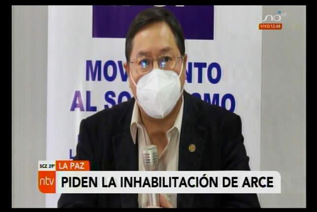 Abogado de la senadora Gonzáles insiste en la inhabilitación del candidato del MAS Luis Arce Catacora