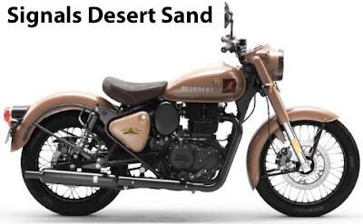 Royal Enfield Classic 350 Signals Desert Sand.
