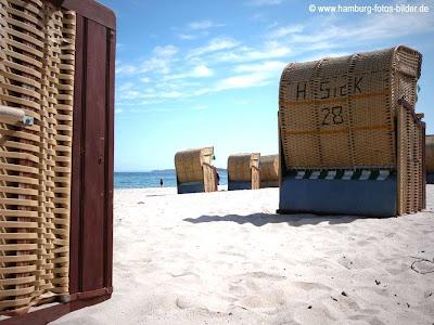 Typische Strandkörbe an der Ostsee, Timmendorfer Strand