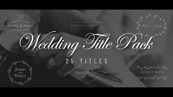 Filmstocks Wedding Title Set   Filmora Effects