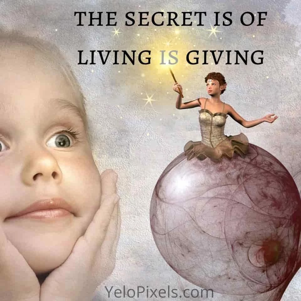 The-secret-is-of-living-is-giving