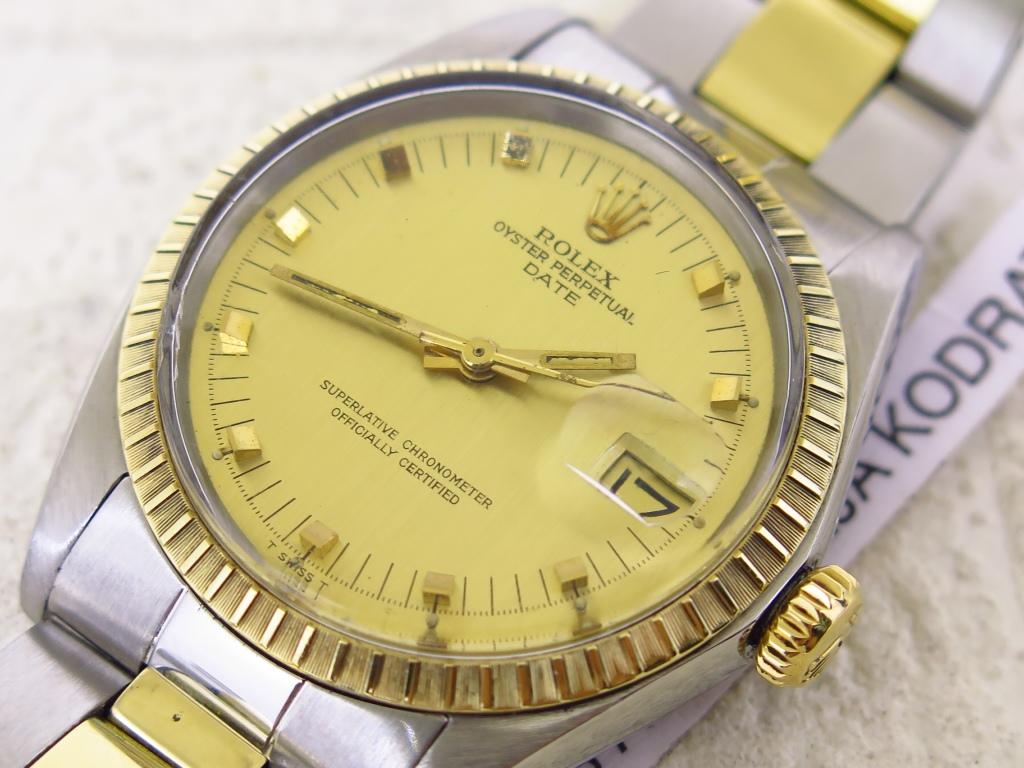 ROLEX OYSTER PERPETUAL DATE GOLD DIAL - ROLEX 1505