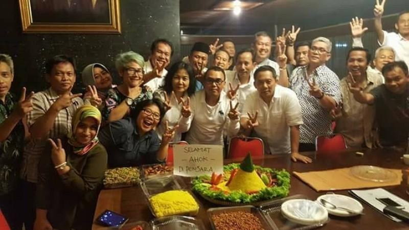 Boy Sadikin dan Prabowo Soenirman gelar syukuran Ahok dipenjara
