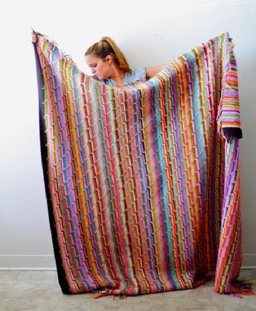 Punto de Crochet  Rayas en Zis Zas