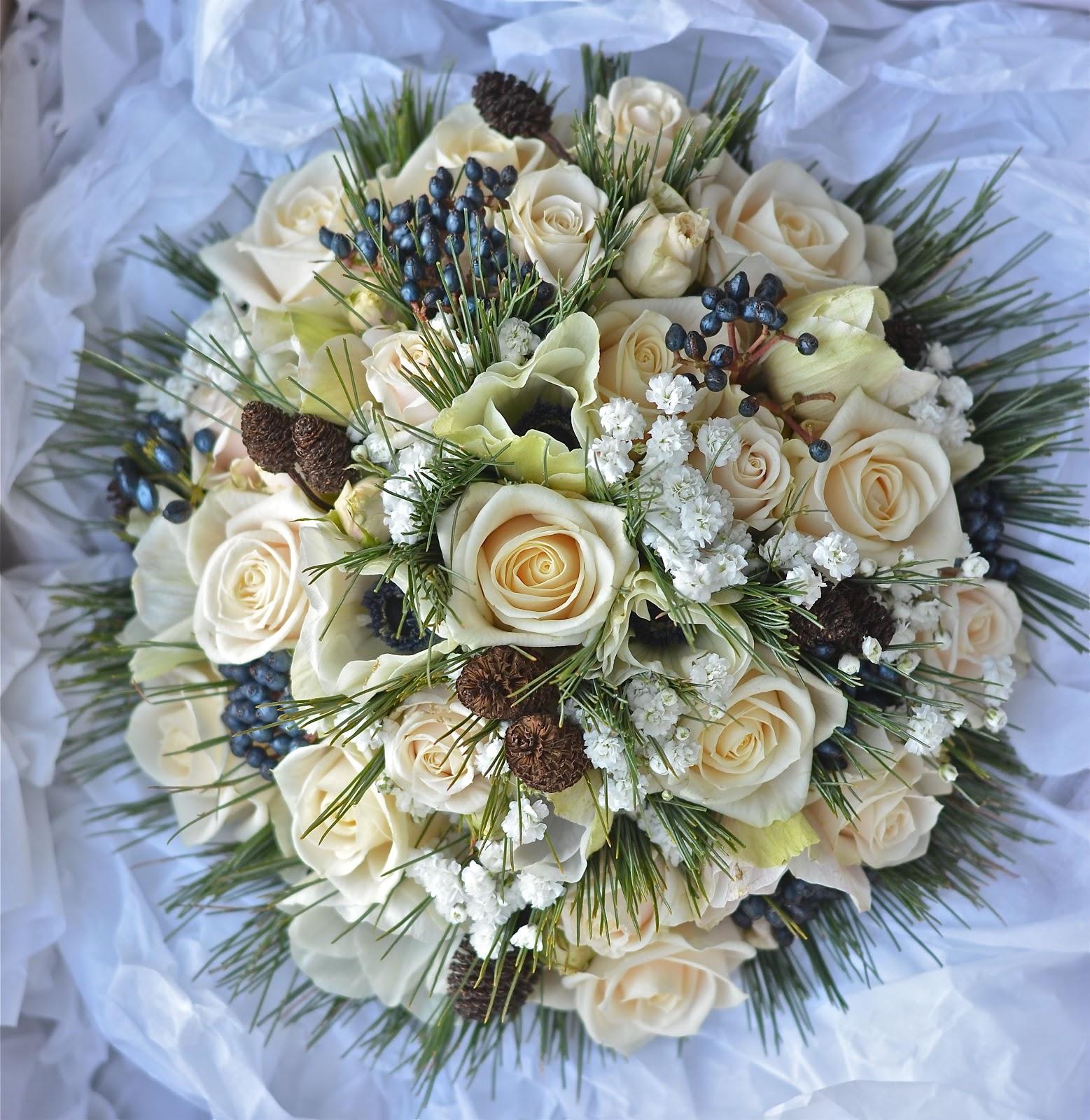 Wedding Flowers Blog: Lucy's Winter Wedding Flowers