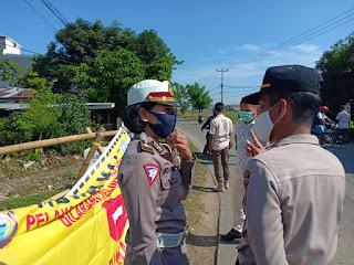 Satlantas Polres Gowa Cek Kelengkapan Posko Di Masing-masing Pos Pengamanan