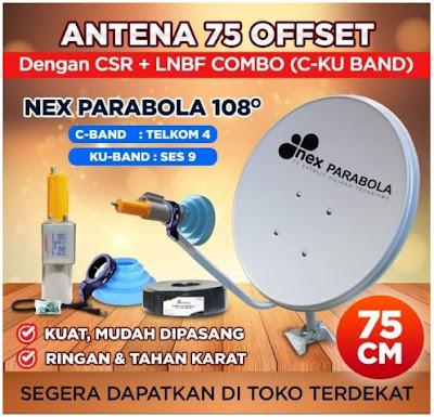 Antenna Parabola Mini Offset Nex Parabola 75cm