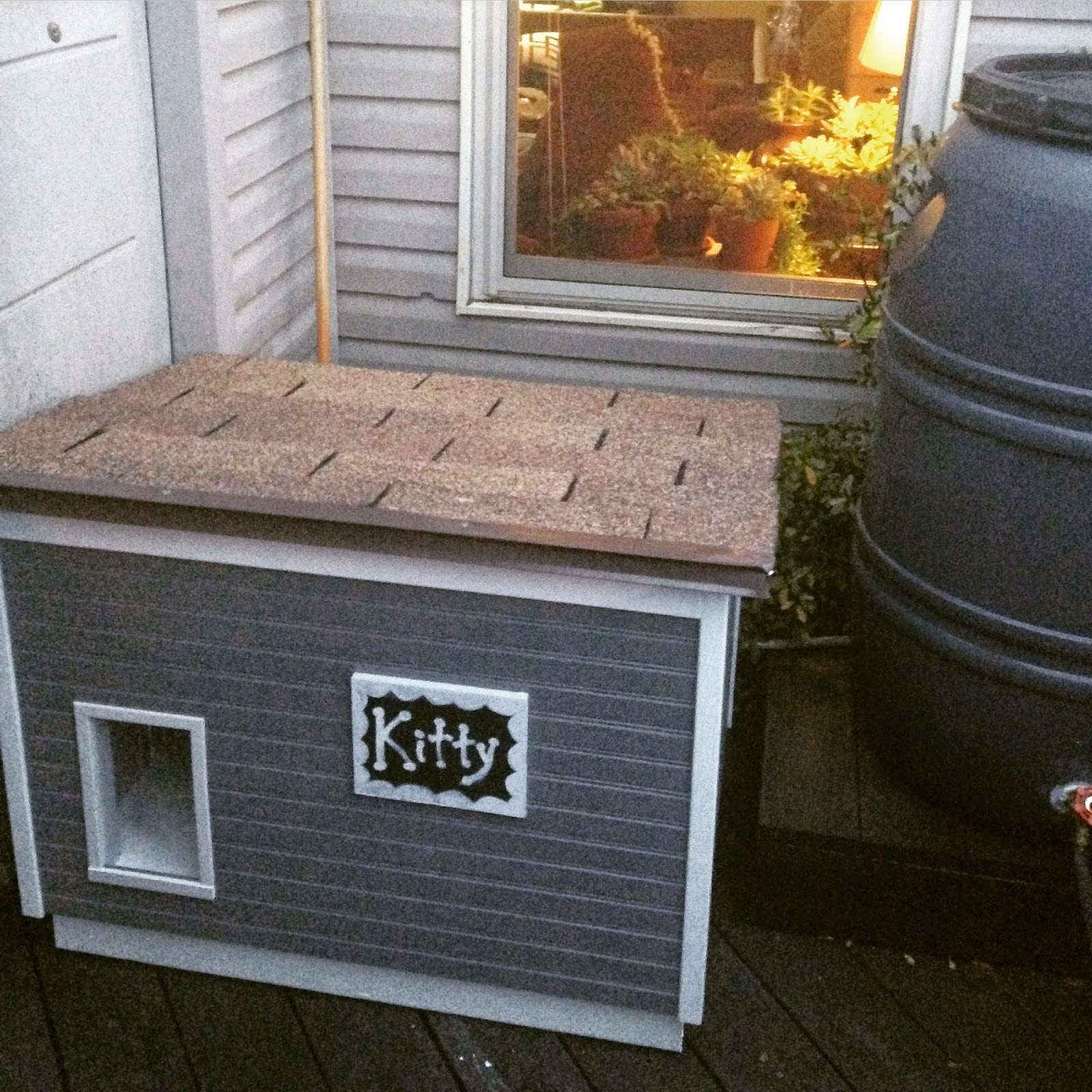 Running With Hooks A Diy Quot Cathouse Quot Dog Is To Doghouse