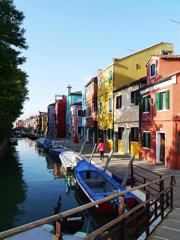 Colourful houses of Burano island in Venice, Italy