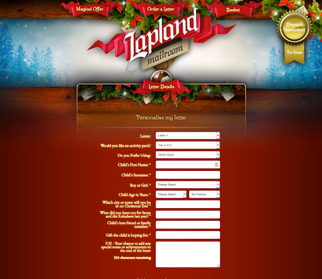 Lapland Mailroom create your letter