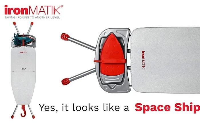 IronMATIK space saving ironing board US