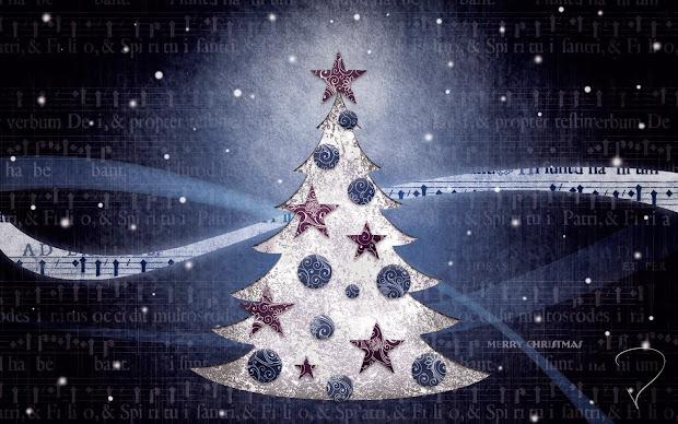 Christmas Tree Desktop Wallpaper Widescreen
