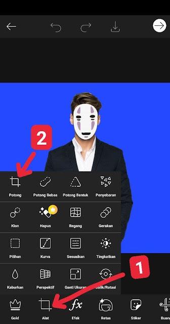 potong foto di aplikasi picsart
