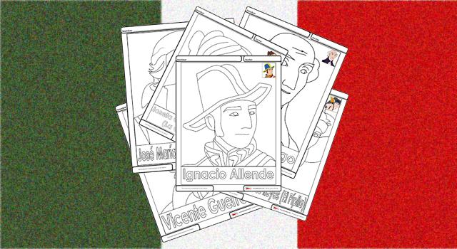 Personajes De La Independencia De México Para Colorear