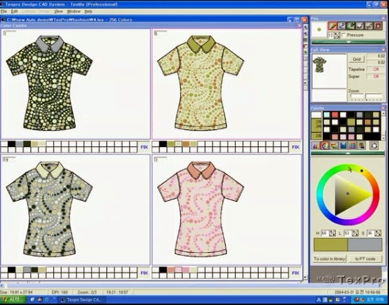CAD (Computer aided design) is industry specific textile design system using computer as a tool. CAD is used to design anything from an aircraft to knitwear.