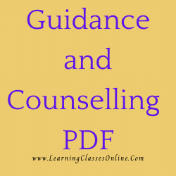 Guidance and Counselling PDF download free in English Medium Language for B.Ed and all courses students, college, universities, and teachers