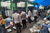 Program Kampung Sehat 2 terus di gelorakan, Polsek Tanjung minta Pengunjung pasar jangan abaikan Prokes