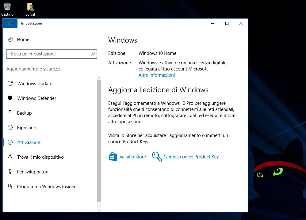Come Riattivare Windows 10 e relativa Licenza dopo modifiche Hardware (sostituzione Scheda Madre compresa)