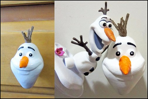 Olaf Furniture Knob - Cute Disney Frozen Pull Knobs frozen bedroom decor