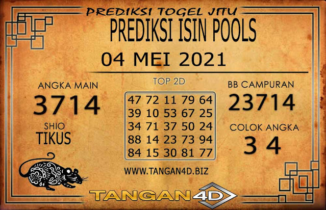 PREDIKSI TOGEL ISIN TANGAN4D 04 MEI 2021