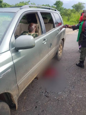 Disturbing Photos: Two Naval Officers Shot Dead In Kogi
