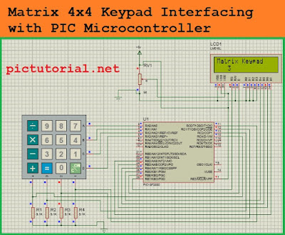Matrix [4x4] Keypad  interfacing with PIC Microcontroller [ PIC18f2550 ] in Proteus [Step by Step]