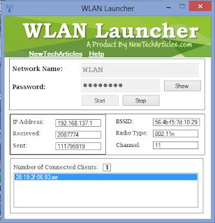 Phần mềm phát wifi cực nhẹ, không cần cài đặt