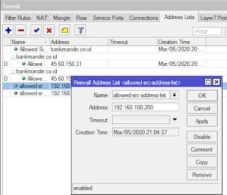 Membuat Address List denganWinbox