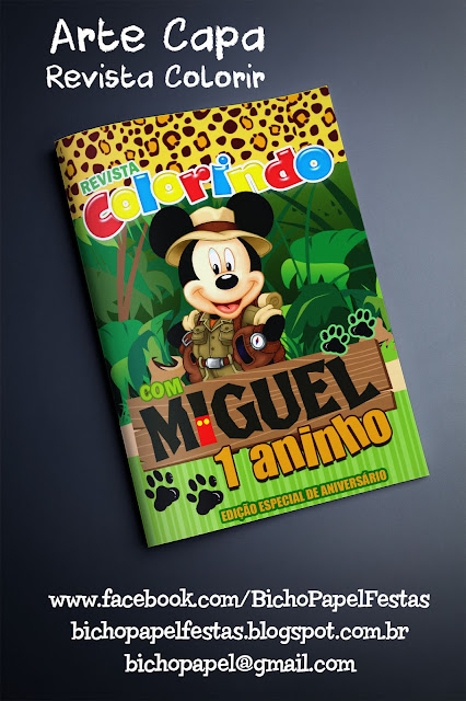 capa revista colorir Mickey Safar