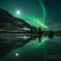 Zorza polarna sfotografowana 08.09.2017. Autor: Todd Salat. Knik River Valley, Alaska, USA