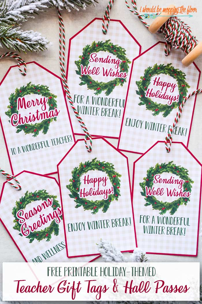Free Christmas Teacher Gift Tags and Printables