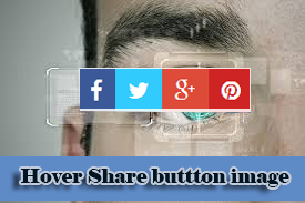 Hover social image button overlay