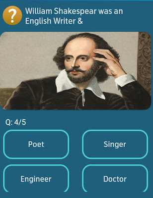 William Shakespear was an English Writer &? MY TELENOR