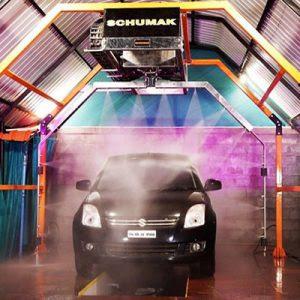 Mô hình trạm rửa xe có lắp hệ thống xịt gầm auto