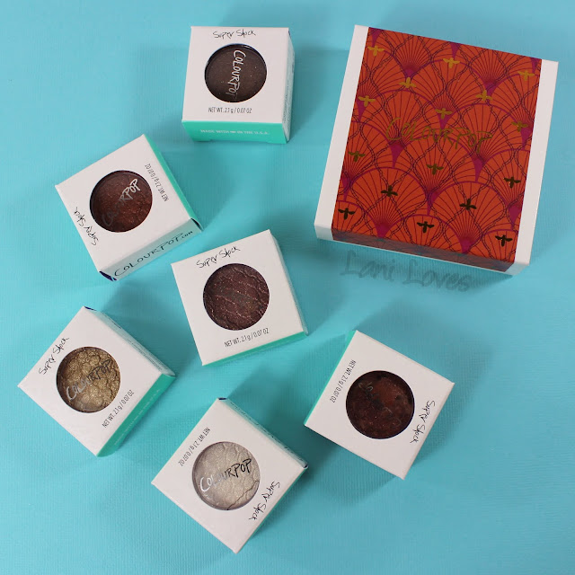 ColourPop Super Shock Shadows - Valley Girl, Cheap Date, Prickly Pear, Hot Tamale, Boyband and Moonshine Swatches & Review