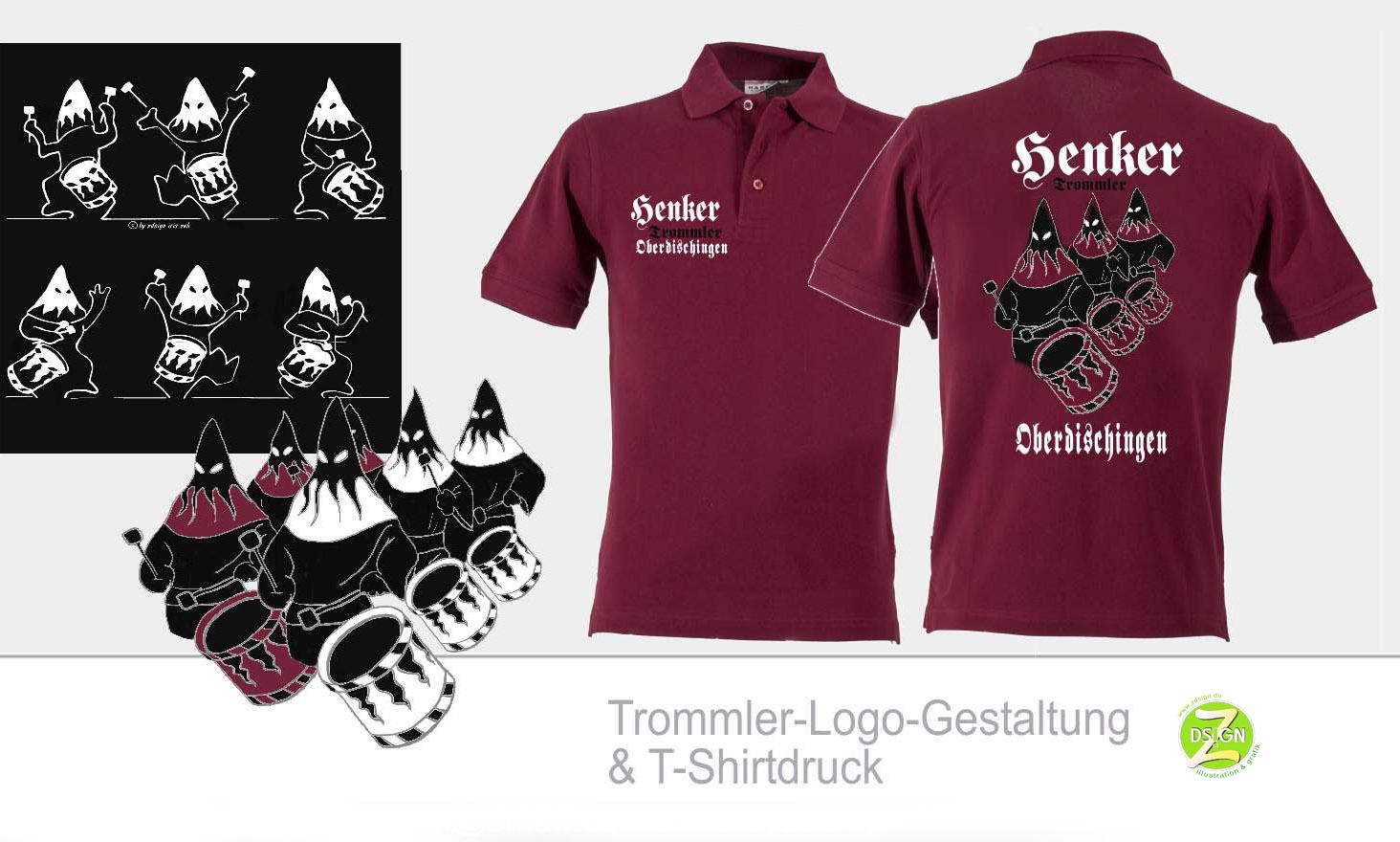 logoentwurf-tshirt-gestaltung-für-henker-trommler-oberdischingen