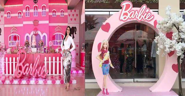 """VIDEO: Así festejaron a lo grande la fiesta de cumpleaños de las hijas de """"El Chapo"""" al estilo Barbie"""