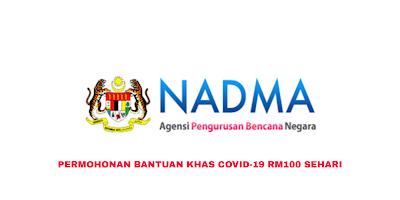 Permohonan Bantuan Khas COVID-19 RM100 Sehari (Borang)