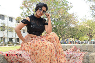 Actress Chetana Uttej Stills in Floral Long Skirt at Pichiga Nachav Movie Press Meet  0135.JPG
